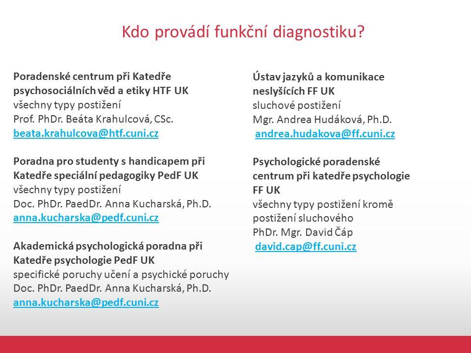 Kdo provádí funkční diagnostiku.