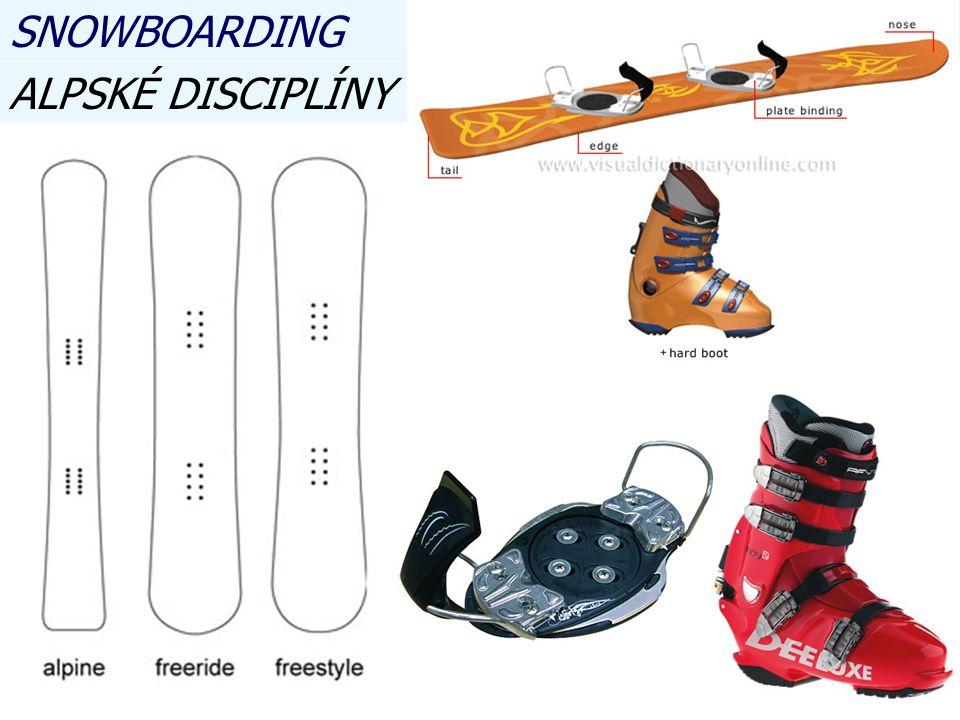 ALPSKÉ DISCIPLÍNY SNOWBOARDING