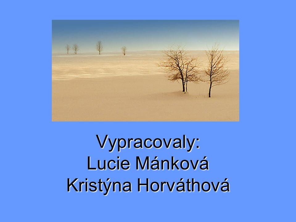 Vypracovaly: Lucie Mánková Kristýna Horváthová