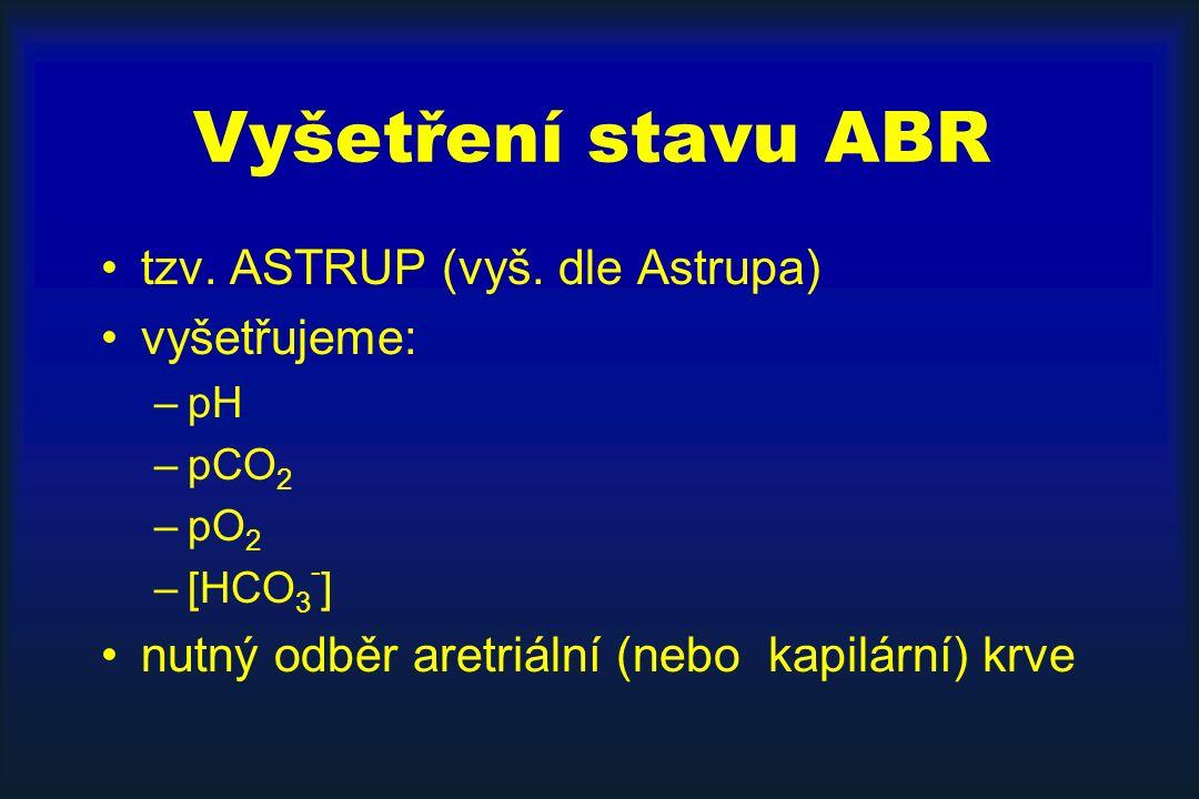 Vyšetření stavu ABR tzv.ASTRUP (vyš.