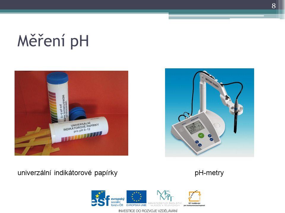 Měření pH 8 univerzální indikátorové papírkypH-metry