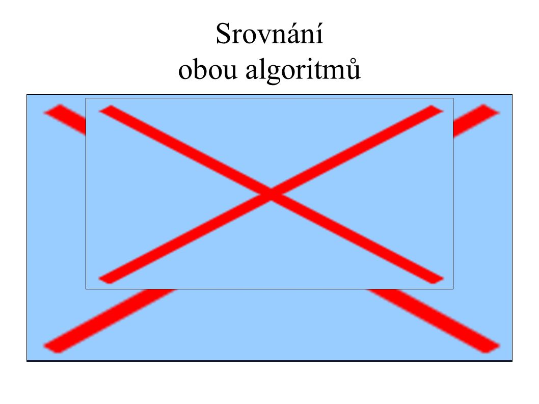 Srovnání obou algoritmů