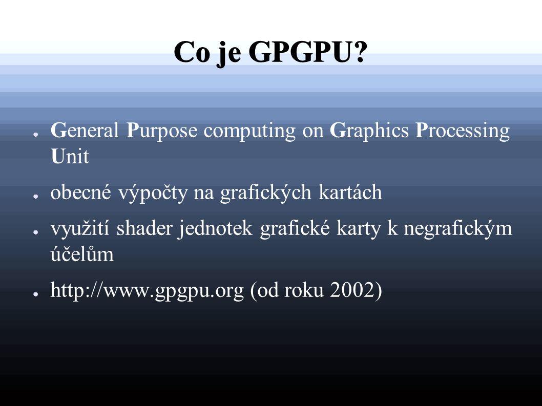 Co je GPGPU.