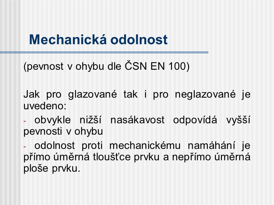 Odolnost proti opotřebení Pro glazované je dle ČSN EN 154 členěna otěruvzdornost do tříd IV.