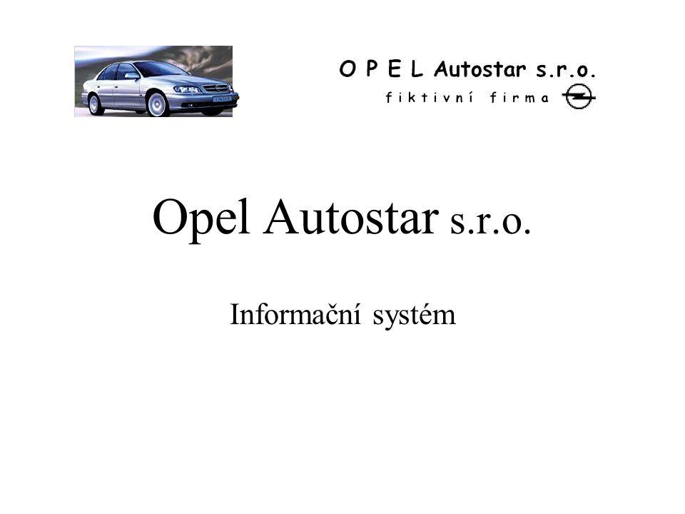 Opel Autostar s.r.o. Informační systém