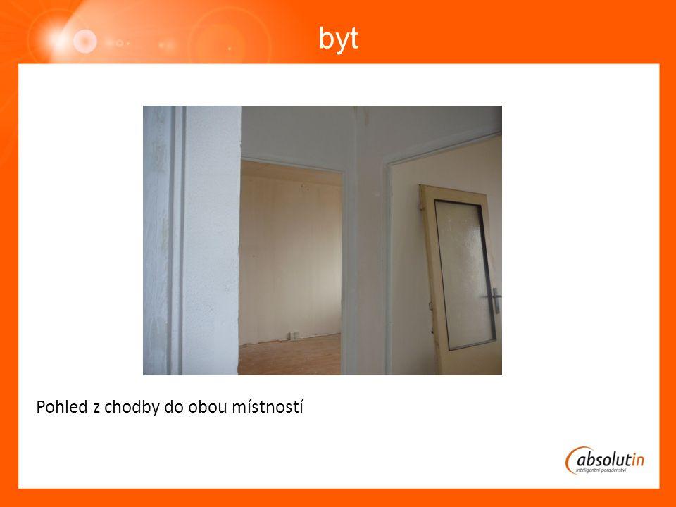byt Pohled z chodby do obou místností