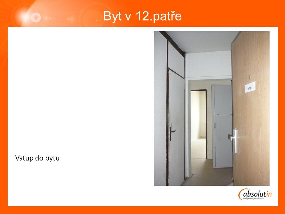 Byt v 12.patře Vstup do bytu