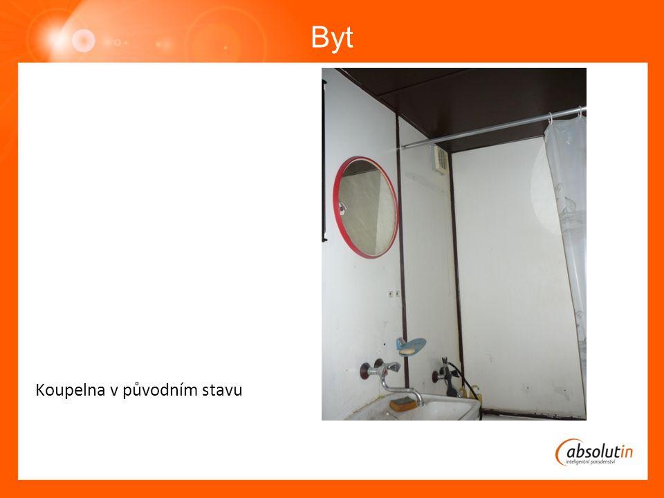 Byt Koupelna v původním stavu