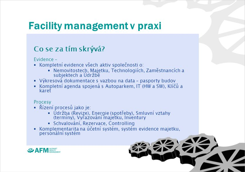 Facility management v praxi Co se za tím skrývá.