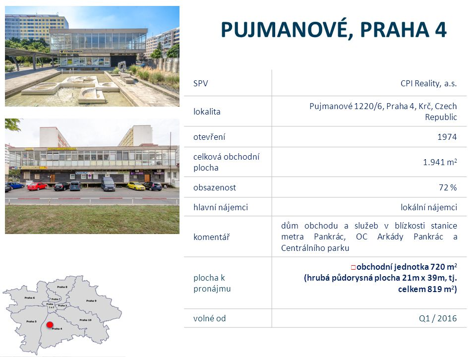 Pujmanové 1220/6, Praha 4 - mapa