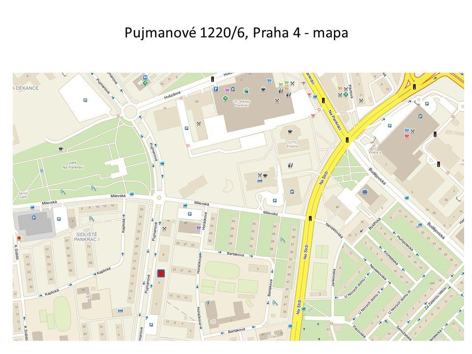 Plánek 2.NP – Pujmanové 1220/6, Praha 4 ul.