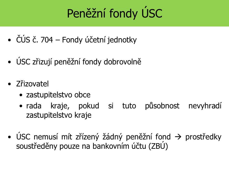 Peněžní fondy ÚSC ČÚS č.