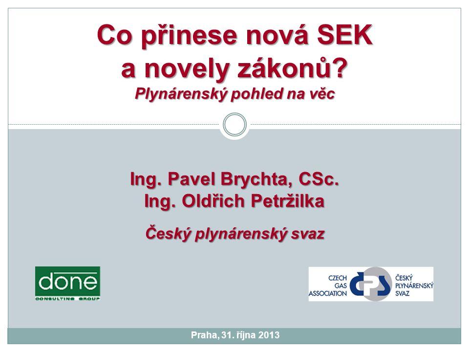 Praha, 31. října 2013 Co přinese nová SEK a novely zákonů.