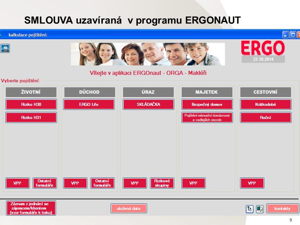 9 SMLOUVA uzavíraná v programu ERGONAUT
