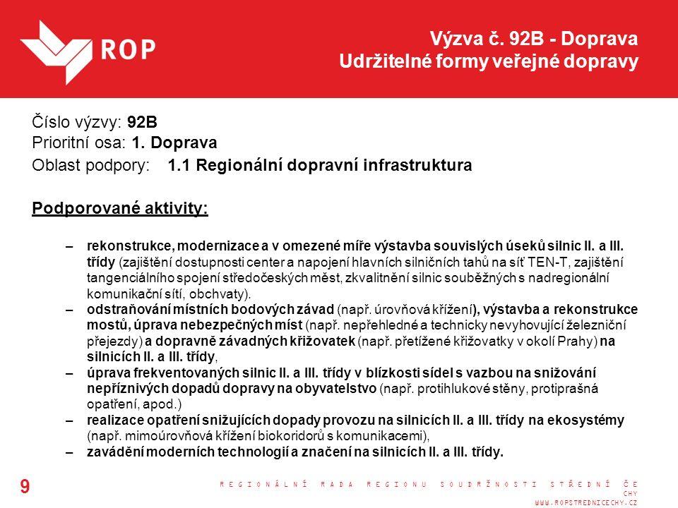 Výzva č.71 - Doprava Udržitelné formy veřejné dopravy Kontaktní osoby: Ing.