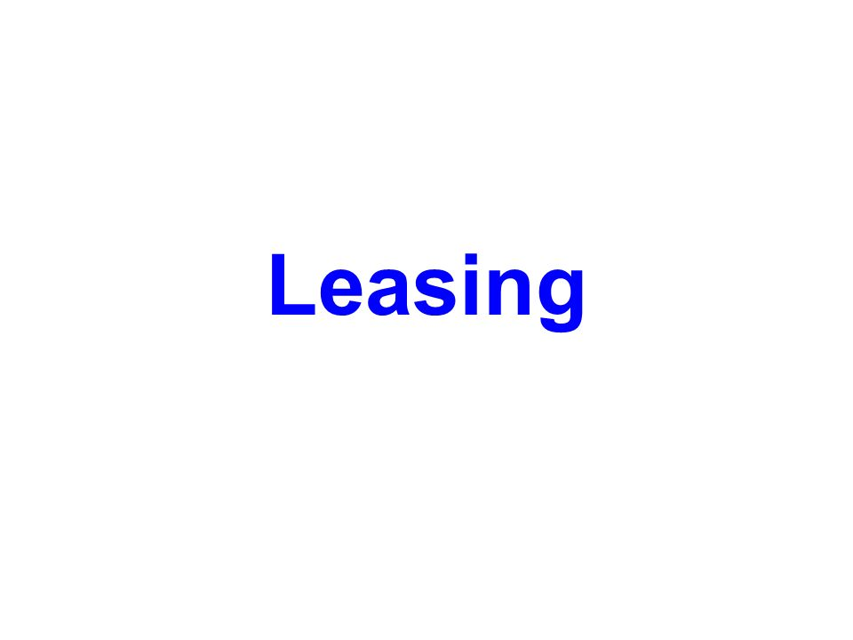 Otázky a úkoly 1.Vyjmenujte alespoň pět u nás působících leasingových společností.