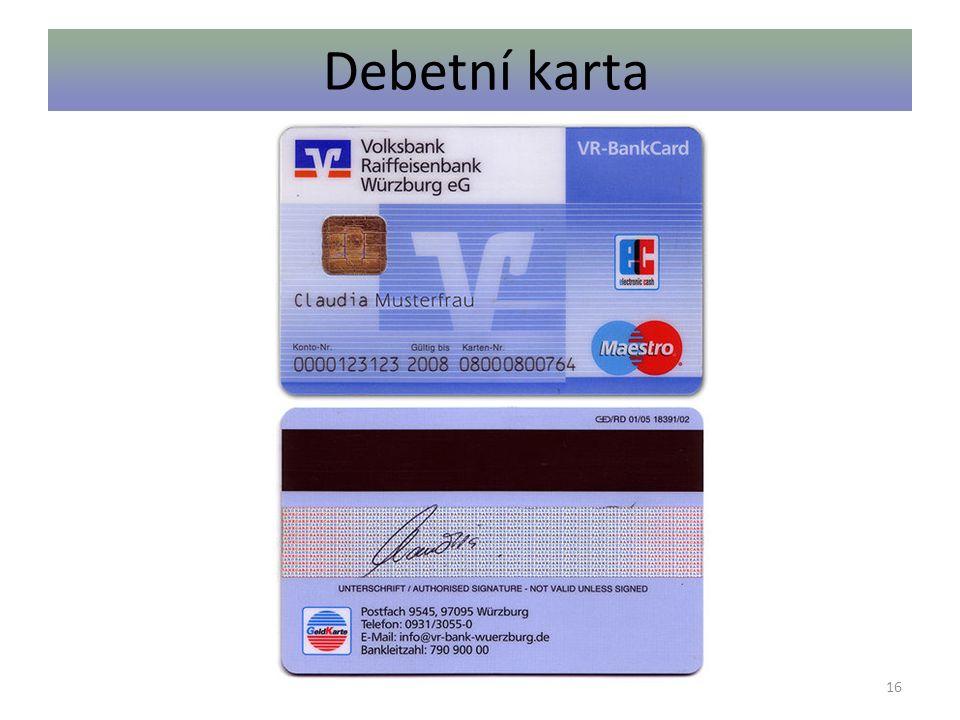 Debetní karta 16