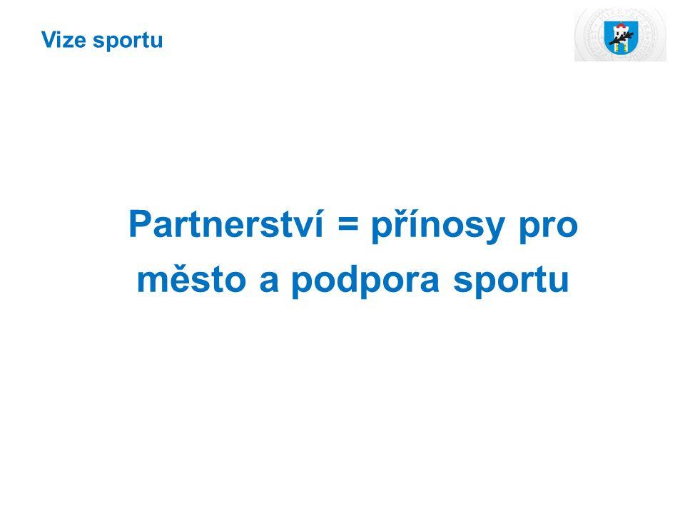 Vize sportu Partnerství = přínosy pro město a podpora sportu