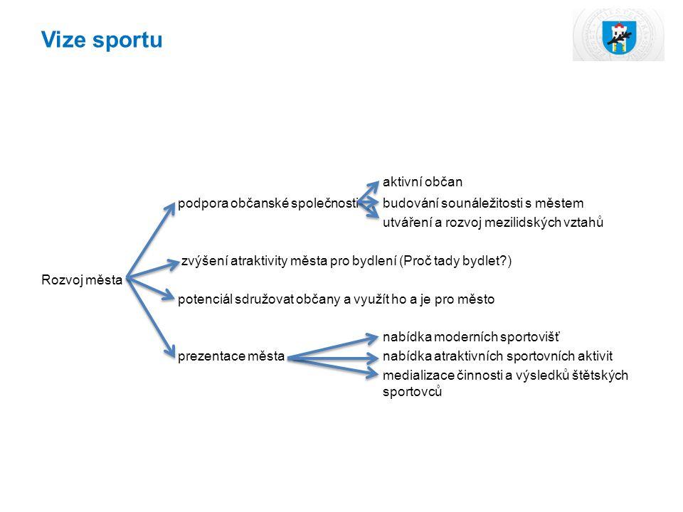 Vize sportu aktivní občan podpora občanské společnostibudování sounáležitosti s městem utváření a rozvoj mezilidských vztahů zvýšení atraktivity města