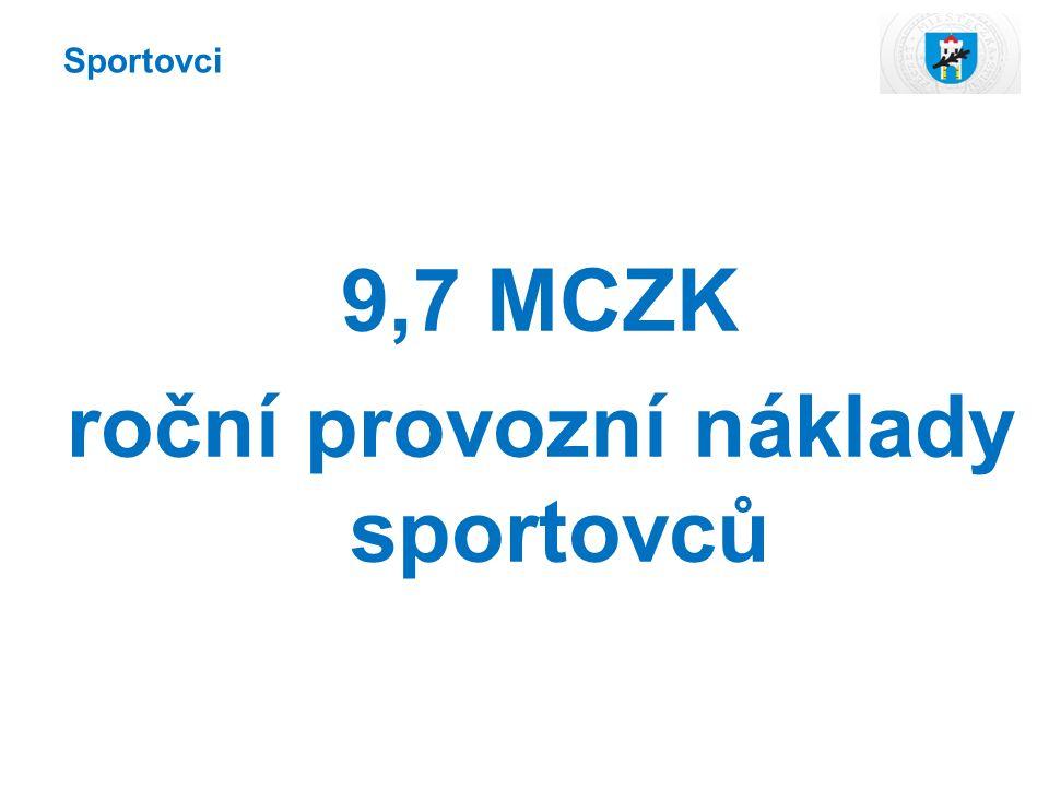 9,7 MCZK roční provozní náklady sportovců