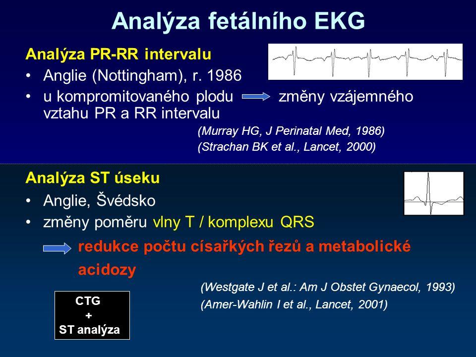 Analýza fetálního EKG Analýza PR-RR intervalu Anglie (Nottingham), r.