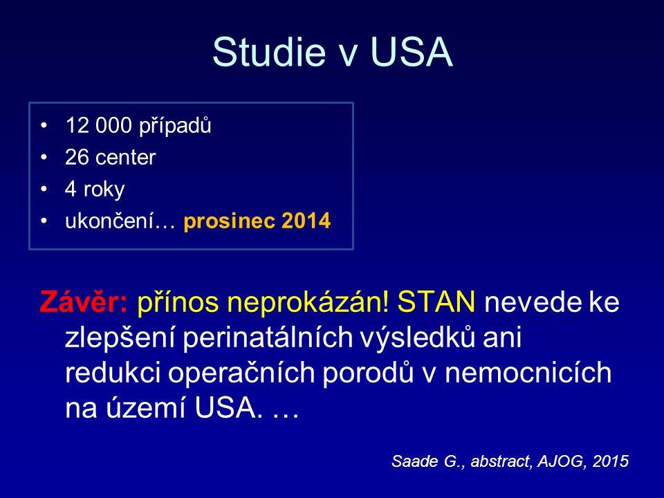 Studie v USA 12 000 případů 26 center 4 roky ukončení… prosinec 2014 Závěr: přínos neprokázán.