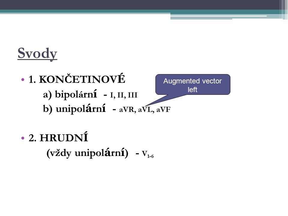 Svody 1. KONČETINOV É a) bipol á rn í - I, II, III b) unipol á rn í - aVR, aVL, aVF 2.