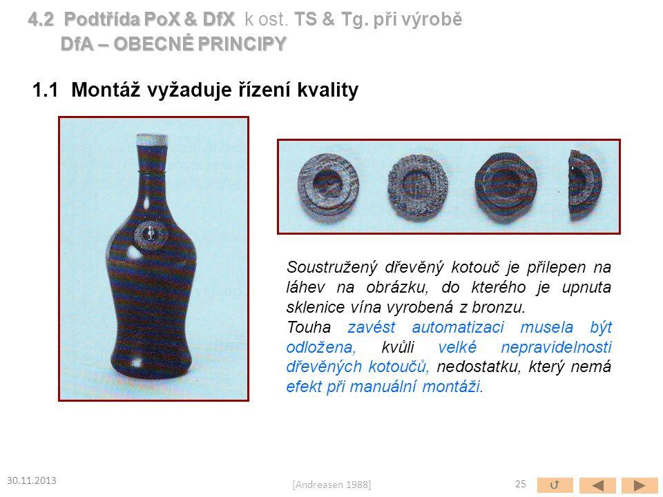 1.1 Montáž vyžaduje řízení kvality Soustružený dřevěný kotouč je přilepen na láhev na obrázku, do kterého je upnuta sklenice vína vyrobená z bronzu. T