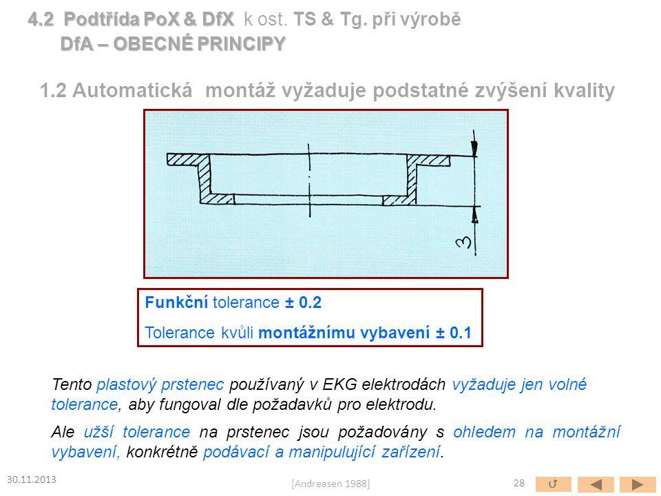Funkční tolerance ± 0.2 Tolerance kvůli montážnímu vybavení ± 0.1 Tento plastový prstenec používaný v EKG elektrodách vyžaduje jen volné tolerance, ab