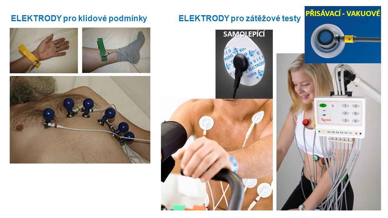 ELEKTRODY pro klidové podmínky ELEKTRODY pro zátěžové testy PŘISÁVACÍ - VAKUOVÉ SAMOLEPÍCÍ