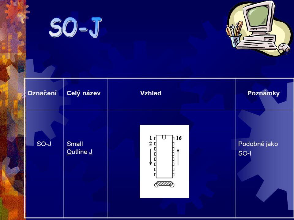 OznačeníCelý název Vzhled Poznámky SI-GSmall Outline G Podobně jako SO-I