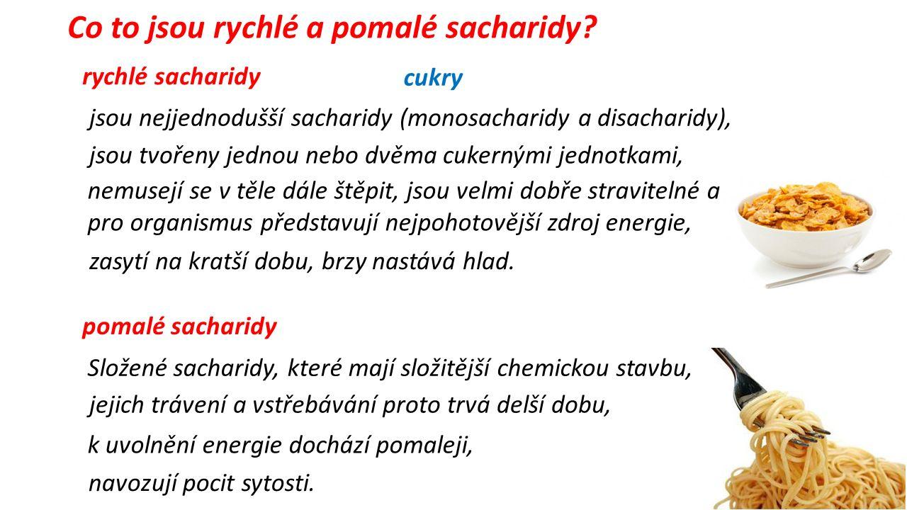 Co to jsou rychlé a pomalé sacharidy.