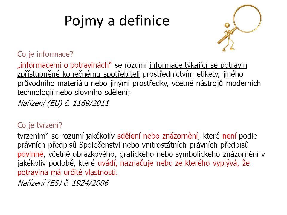 Pojmy a definice Co je informace.