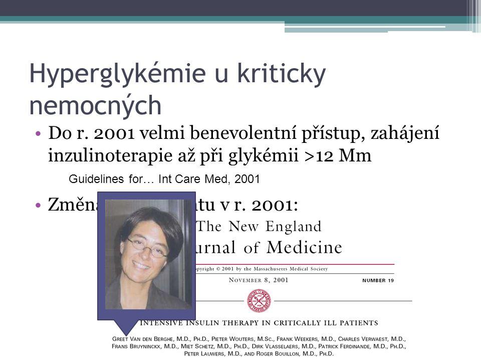 Hyperglykémie u kriticky nemocných Do r.