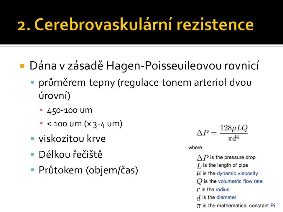  Dána v zásadě Hagen-Poisseuileovou rovnicí  průměrem tepny (regulace tonem arteriol dvou úrovní) ▪ 450-100 um ▪ < 100 um (x 3-4 um)  viskozitou krve  Délkou řečiště  Průtokem (objem/čas)