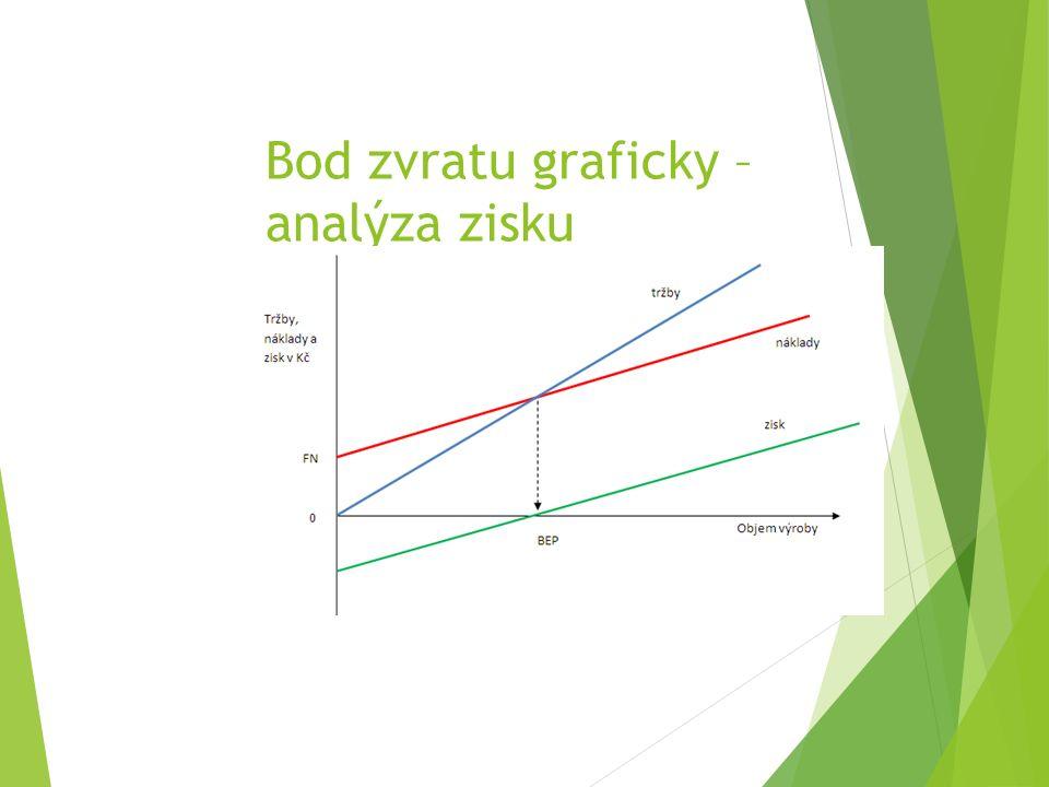 Bod zvratu graficky – analýza zisku