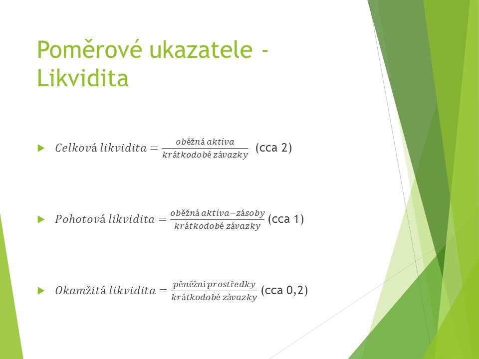 Poměrové ukazatele - Likvidita
