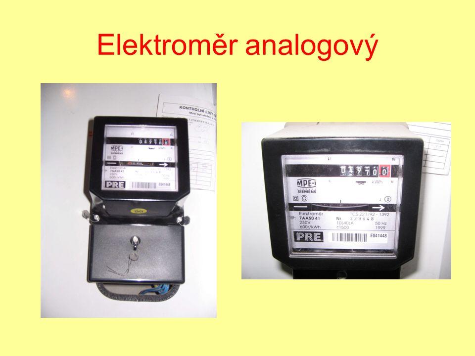Elektroměr analogový
