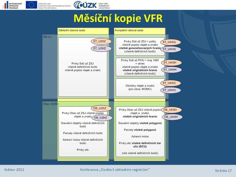 """Měsíční kopie VFR Květen 2012 Konference """"Osvěta k základním registrům"""" Stránka 17"""