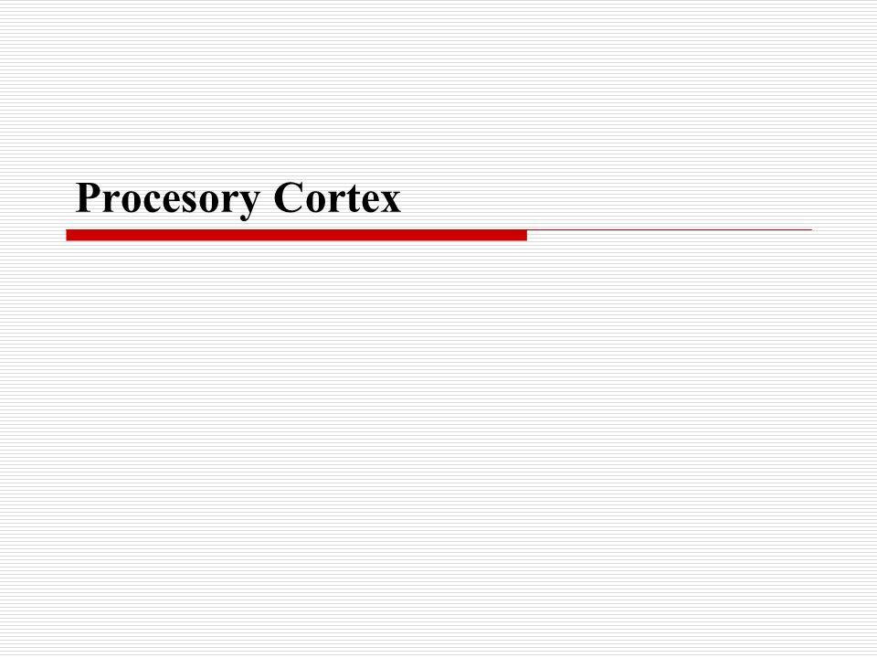 Úvod do architektury Rodina procesorů s architekturou ARM Cortex umožňuje řešit nejrůznější zařízení včetně těch, která jsou určena i pro velmi náročná průmyslová zařízení, použití v nejrůznějších bezdrátových zařízeních, automobilech a mnoha jiných zařízeních.