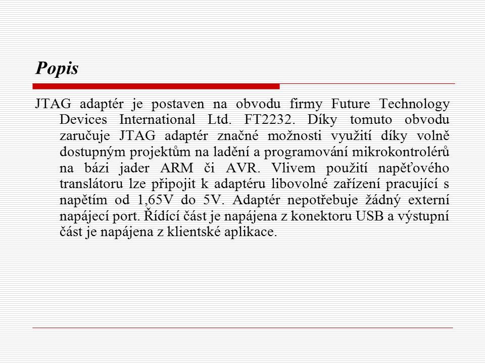 Popis JTAG adaptér je postaven na obvodu firmy Future Technology Devices International Ltd.