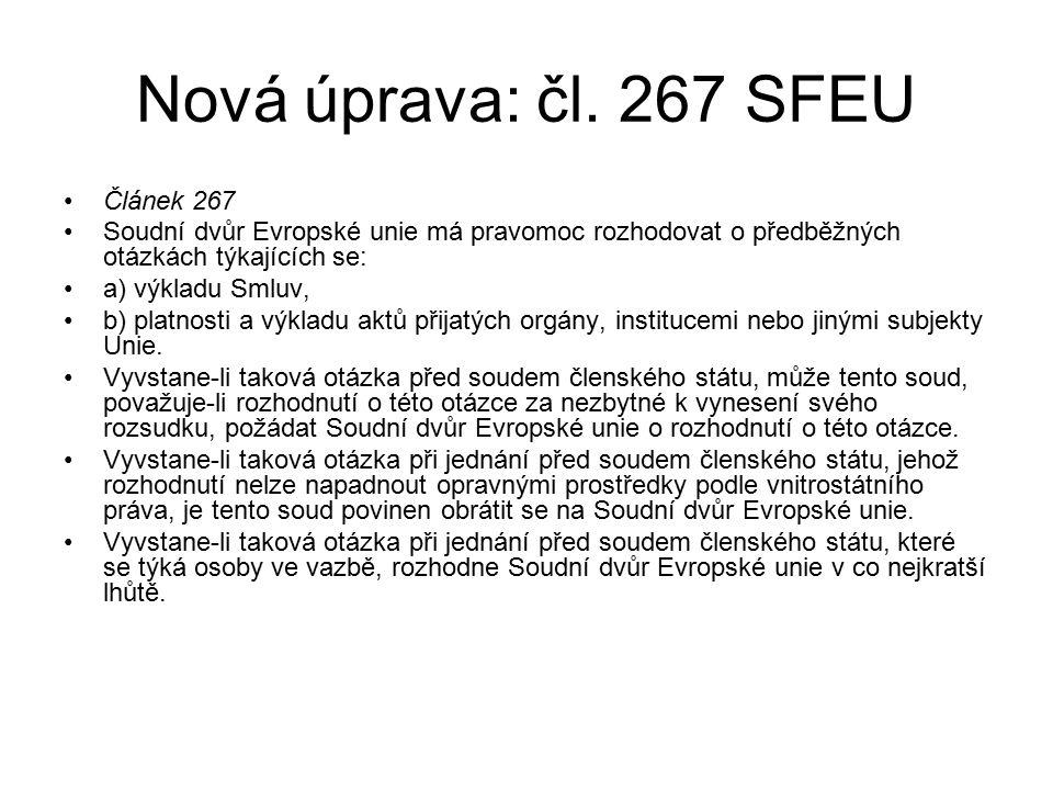 Nová úprava: čl.
