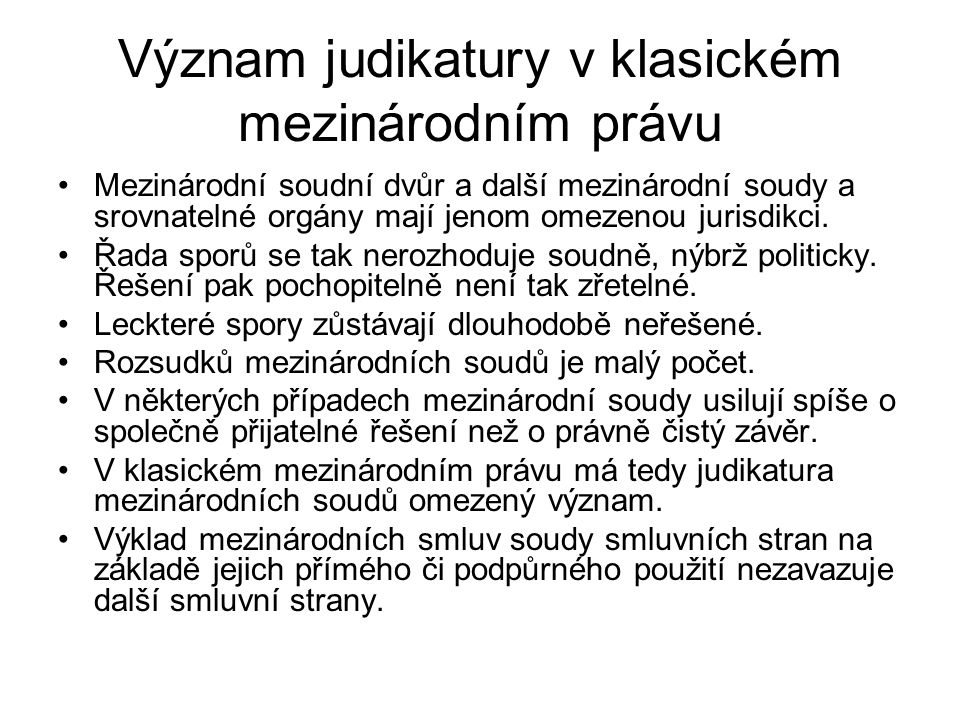Soudy povinné k položení (nečísl.odst.