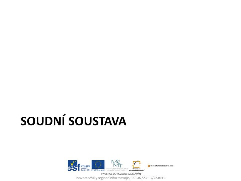 SOUDNÍ SOUSTAVA Inovace výuky regionálního rozvoje, CZ.1.07/2.2.00/28.0012