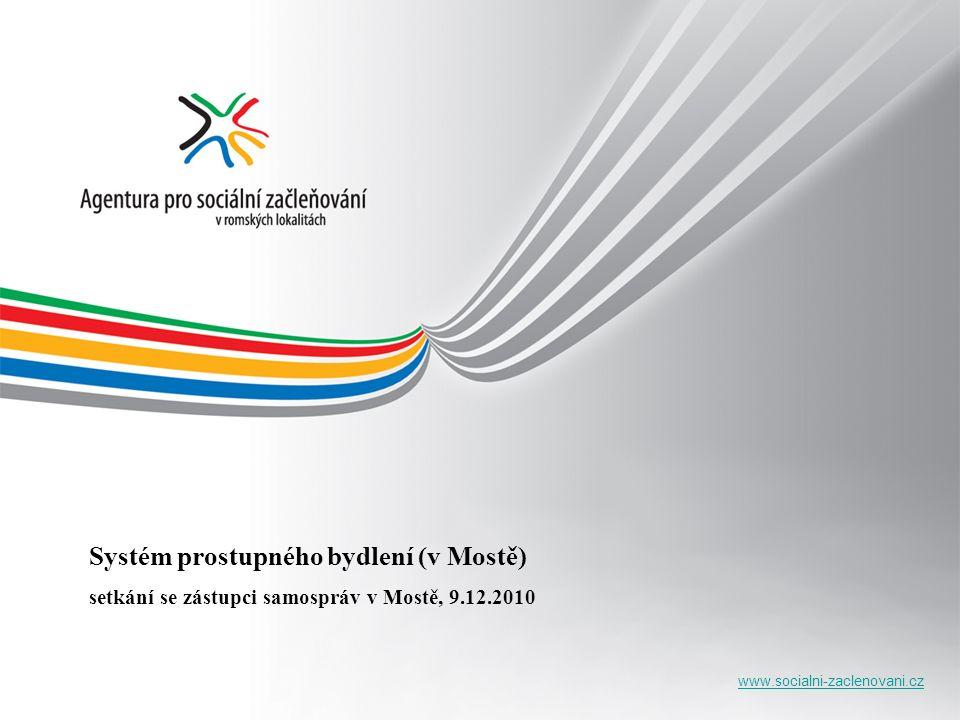 www.socialni-zaclenovani.cz Systém prostupného bydlení (v Mostě) setkání se zástupci samospráv v Mostě, 9.12.2010