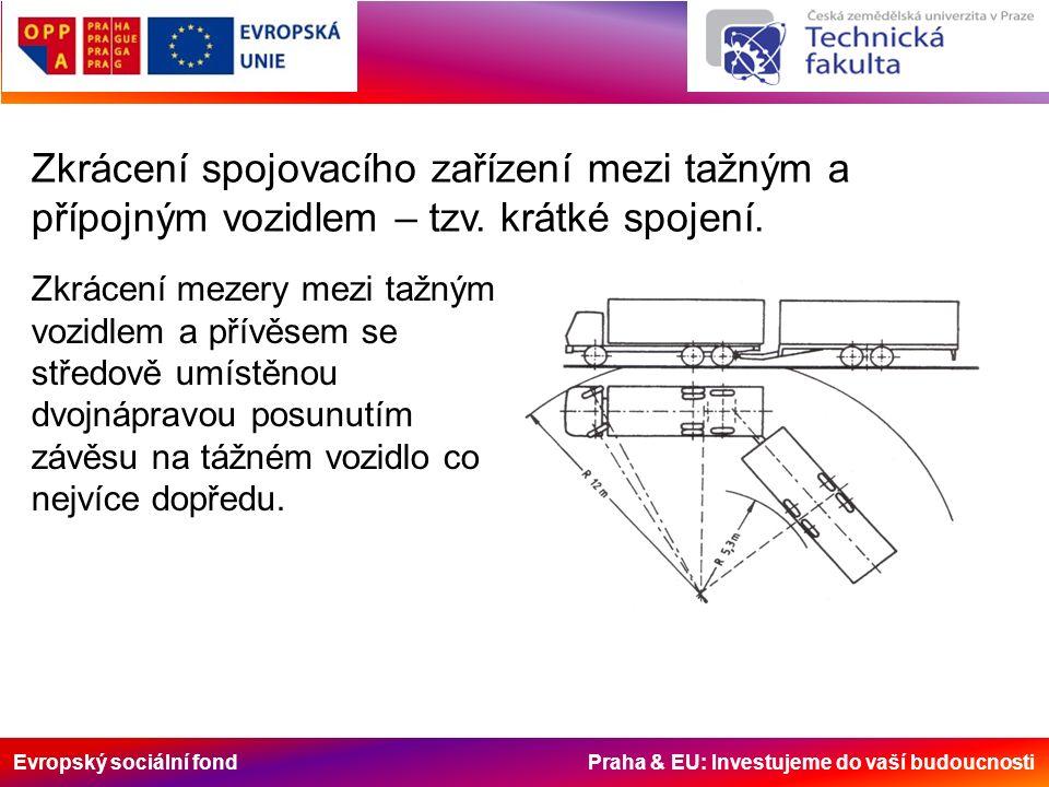 Evropský sociální fond Praha & EU: Investujeme do vaší budoucnosti Zkrácení spojovacího zařízení mezi tažným a přípojným vozidlem – tzv. krátké spojen