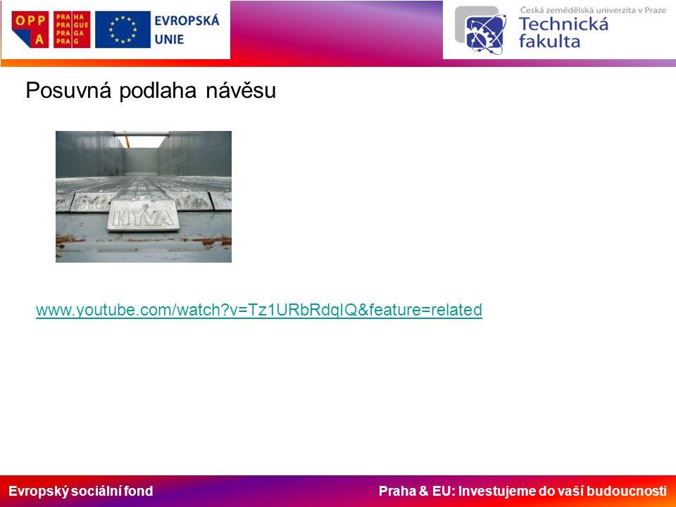 Evropský sociální fond Praha & EU: Investujeme do vaší budoucnosti Posuvná podlaha návěsu www.youtube.com/watch?v=Tz1URbRdqIQ&feature=related