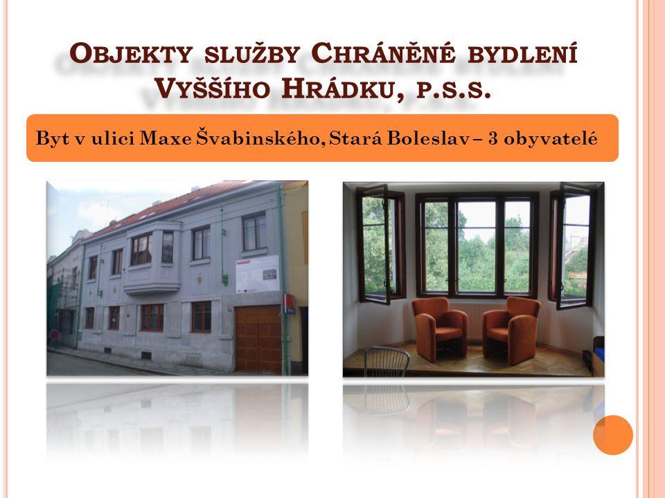 O BJEKTY SLUŽBY C HRÁNĚNÉ BYDLENÍ V YŠŠÍHO H RÁDKU, P. S. S. Byt v ulici Maxe Švabinského, Stará Boleslav – 3 obyvatelé