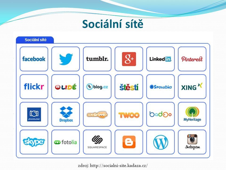 Sociální sítě zdroj: http://socialni-site.kadaza.cz/