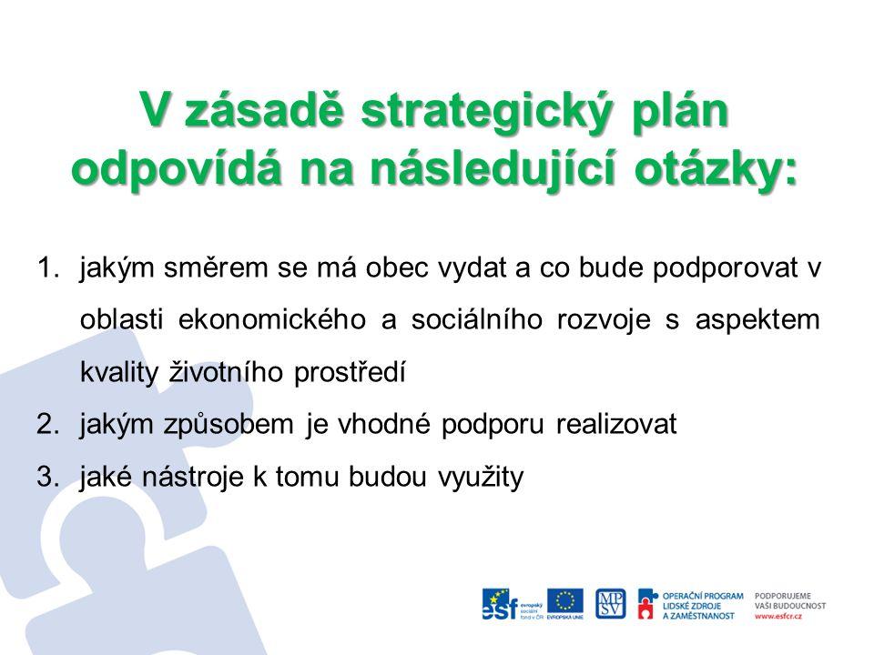 Strategický plán : je možné charakterizovat jako významný koncepční dokument, jehož úkolem je sjednotit pohled na celkový rozvoj území města Tišnova a definovat dlouhodobé cíle a priority.